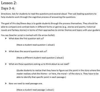 6th Grade Common Core Practice - RL.6.9 - 3 mini-lessons