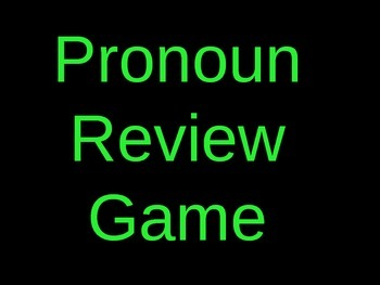 6th Grade Common Core Pronouns (Subjective, Objective, Possessive, Intensive)