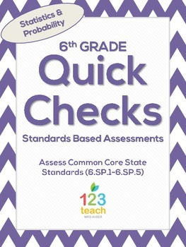 6th Grade Math Common Core Quick Check Mini Assessments (6.SP.1-6.SP.5)