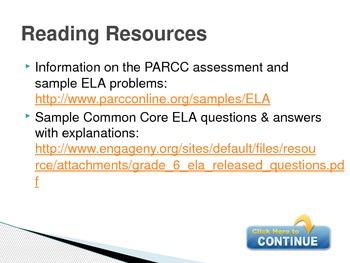 6th Grade Common Core Resources