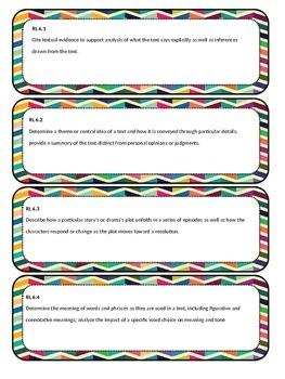 6th Grade Common Core Standard Cards