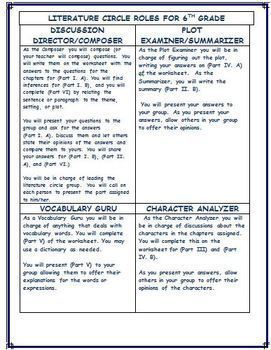 6th Grade Common Core Standards Analysis Template for Any Novel