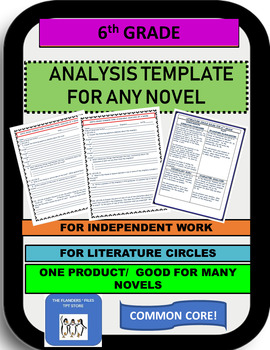 6th  CC Analysis Template for Any Novel