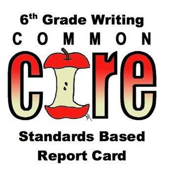 6th Grade Common Core Standards Based Report Card (Writing)