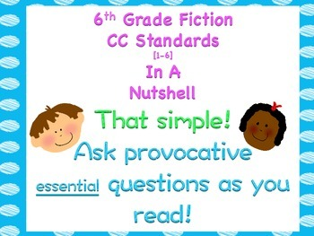 6th Grade Common Core Standards In a Nutshell [fiction]