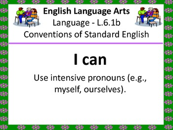 "6th Grade Common Core ""I Can"" Statements for English Language Arts"