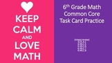 6th Grade Common Core Task Cards - Set 2  (with QR Code Scanners)