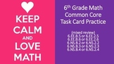 6th Grade Common Core Task Cards - Set 4 (with QR Code Scanners)