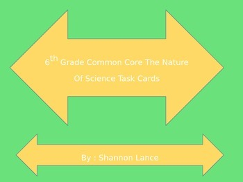 6th Grade Common Core : The Nature Of Science Task Cards