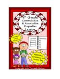 6th Grade Commutative & Associative Properties Lesson: FOLDABLE & Homework