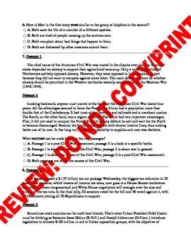 6th Grade Compare & Contrast CCSS Assessment