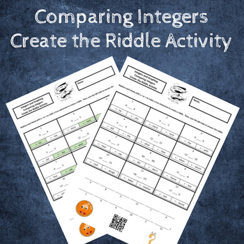 6th Grade:  Comparing Integers Create the Riddle Activity