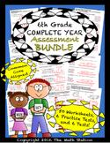 6th Grade Complete Year Assessment Bundle - Worksheets & Tests