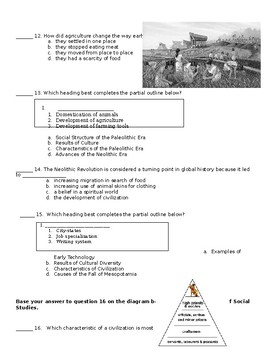 6th Grade Comprehensive Final Exam (S.S. Framework Aligned)