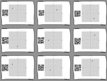 6th Grade Coordinate Grid Review QR Codes