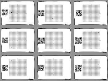 6th Grade Coordinate Grid Review QR Codes