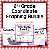 6th Grade Coordinate Graphing Bundle Poster INB Game NO PR