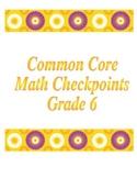 6th Grade Coordinate Plane Checkpoint