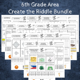 Area of Parallelograms, Triangles and Trapezoids Create the Riddle Bundle