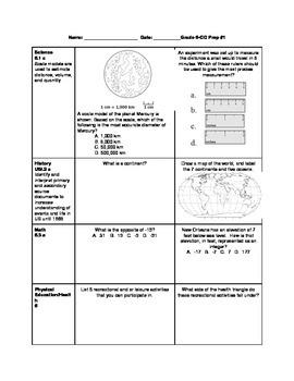 6th Grade ALL SUBJECTS Cross Curricular Prep Bundle #1-10