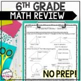 6th Grade Cumulative Math Review