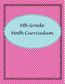 6th Grade Curriculum Binder Inserts