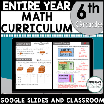 6th Grade Curriculum Growing Bundle Common Core Aligned Using Google