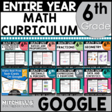 6th Grade Math Curriculum Bundle Common Core Aligned Using Google