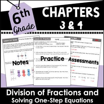 6th Grade Math Fractions Curriculum Unit Three
