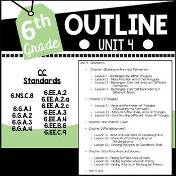 6th Grade Curriculum Unit Four Geometry