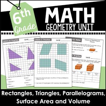 6th Grade Math Geometry Curriculum Unit Four