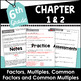 Distributive Property, GCF, LCM, and More 6th Grade Math Curriculum Unit One