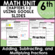 6th Grade Math Fractions Curriculum Unit Three using Google