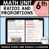 Ratios, Rates, and Unit Rates 6th Grade Math Unit Using Google