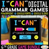 6th Grade Grammar Games DIGITAL   Google Classroom Distanc