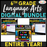 6th Grade DIGITAL Language Arts BUNDLE | Google Classroom