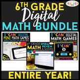 6th Grade DIGITAL Math BUNDLE | Google Classroom | Spiral