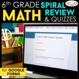 6th Grade DIGITAL Math Spiral Review & Quizzes | Google Classroom | Homework