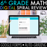 6th Grade Daily Math Spiral Review [DIGITAL] Distance Learning