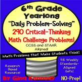 6th Grade Daily Problem Solving, 290 Math Multi-Step Challenge Problems!