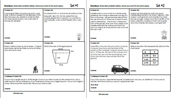 Daily Problem Solving for 6th Grade: Yearlong Word Problem Bundle