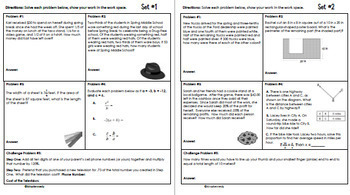 6th Grade April Daily Problem Solving: Math Challenge Problems (Multi-Step)