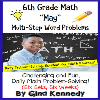 6th Grade Daily Problem Solving: May Math Challenge Problems (Multi-Step)