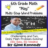6th Grade May Daily Problem Solving: Math Challenge Problems (Multi-Step)