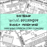 6th Grade Daily Spiral Bellringer Review BUNDLE
