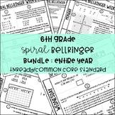 6th Grade Daily Spiral Bellringer Review BUNDLE