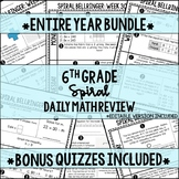 6th Grade Spiral Daily Distance Learning Review