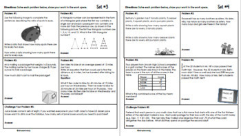 6th Grade December Daily Problem Solving: Math Challenge Problems (Multi-Step)