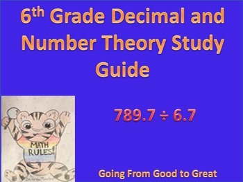 6th Grade Decimal and Number Theory Study Guide