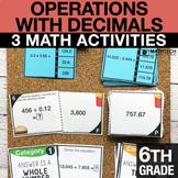 6th Grade Decimals Operations Activities | 6th Grade Googl